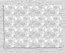 ABAKUHAUS Grau und Weiß Wandteppich,