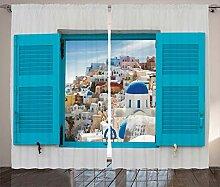 ABAKUHAUS Griechenland Rustikaler Vorhang, Fenster