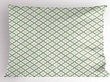 ABAKUHAUS Grün Kissenbezug, Retro- quadratische