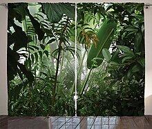 ABAKUHAUS Grün Rustikaler Vorhang, Tropischer