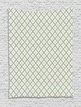 ABAKUHAUS Grün Wandteppich, Retro- quadratische
