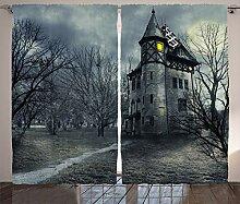 ABAKUHAUS Halloween Rustikaler Vorhang, Gothic