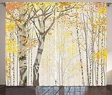 ABAKUHAUS Herbst Rustikaler Vorhang,