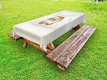 ABAKUHAUS Hochzeit Outdoor-Tischdecke, Ringe mit