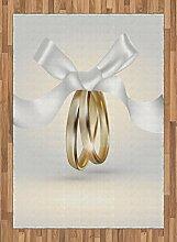 ABAKUHAUS Hochzeit Teppich, Ringe mit dem Band,
