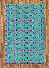 Abakuhaus Hunde Teppich, Lustige Hunde mit ihren