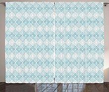 ABAKUHAUS Ikat Rustikaler Vorhang, Aztekische