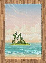 ABAKUHAUS Insel Teppich, Dschungel bei