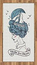 ABAKUHAUS inspirativ Teppich, Mädchen mit blauen