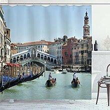 ABAKUHAUS Italien Duschvorhang, Venedig Gondel