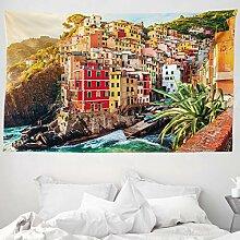 ABAKUHAUS Italien Wandteppich und Tagesdecke,