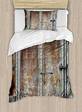 ABAKUHAUS Jahrgang Bettbezug Set Einzelbett,