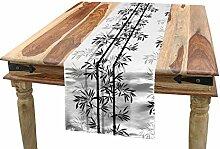 ABAKUHAUS japanisch Tischläufer, Bambus Baum