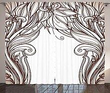 ABAKUHAUS Jugendstil Rustikaler Vorhang,