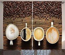 ABAKUHAUS Kaffee Rustikaler Gardine, Auswahl an