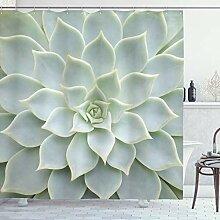 ABAKUHAUS Kaktus Duschvorhang, Kaktus-Blumen Foto,