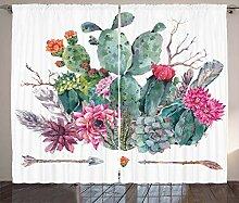 ABAKUHAUS Kaktus Rustikaler Gardine, Blumenstrauß