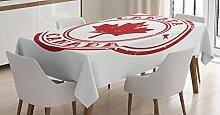 ABAKUHAUS Kanada Tischdecke, Stempel Design, Für