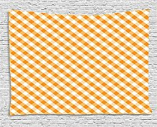 ABAKUHAUS Kariert Wandteppich, Orange
