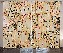 ABAKUHAUS Kasino Rustikaler Vorhang, Alte Vintage