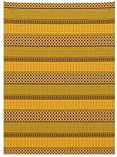 ABAKUHAUS Kente-Muster Wandteppich und Tagesdecke,