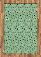 ABAKUHAUS Kindergarten Teppich, Füchse mit