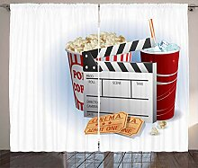 ABAKUHAUS Kino Rustikaler Vorhang, Snacks