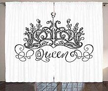ABAKUHAUS Königin Rustikaler Vorhang,