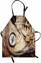 ABAKUHAUS Kompass Kochschürze, Vintage Navigation