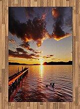 ABAKUHAUS Küsten Teppich, Lake Rotorua bei