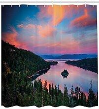 ABAKUHAUS Lake Tahoe Duschvorhang, Kalifornien