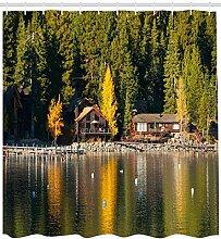 ABAKUHAUS Lake Tahoe Duschvorhang, Karneol Bucht