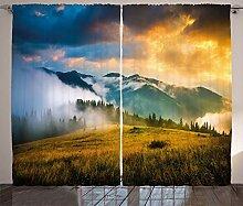 ABAKUHAUS Landschaft Rustikaler Vorhang, Misty