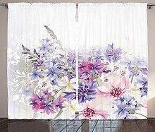 ABAKUHAUS Lavendel Rustikaler Vorhang, Rosa lila