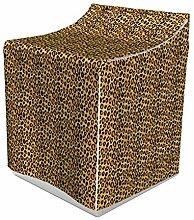 ABAKUHAUS Leopard-Druck Waschmaschienen und