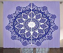ABAKUHAUS lila Mandala Rustikaler Vorhang, Retro