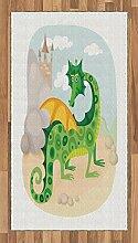 ABAKUHAUS Märchen Teppich, Goofy Drachenfigur,