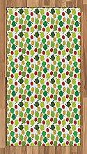Abakuhaus Marienkäfer Teppich, Kleeblätter mit