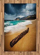 ABAKUHAUS Meer Teppich, Strand mit stürmischem