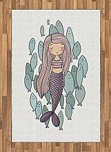 Abakuhaus Meerjungfrau Teppich, Cartoon Mädchen