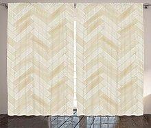 ABAKUHAUS Modern Rustikaler Vorhang,