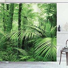 ABAKUHAUS Natur Duschvorhang, Palmen exotische