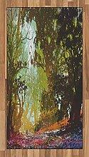 Abakuhaus Natur Teppich, Frühling mit Herbstlaub,