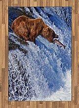 ABAKUHAUS Natur Teppich, Grizzlybär bei Katmai,
