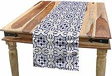 ABAKUHAUS Navy blau Tischläufer, Portugiesische