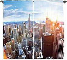 ABAKUHAUS New York Rustikaler Vorhang,