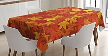 ABAKUHAUS Orange Tischdecke, Herbst Ahornblätter,