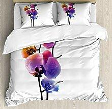 Abakuhaus Orchideen Bettbezug Set Doppelbett,
