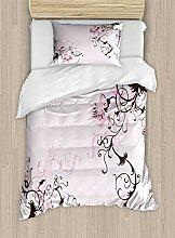 ABAKUHAUS Orchideen Bettbezug Set Einzelbett,