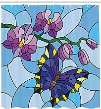 ABAKUHAUS Orchideen Duschvorhang, Mosaic Fractal